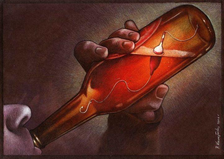 Outras incômodas ilustrações de Pawel Kuczynski mostram o que há de errado com a sociedade atual 54