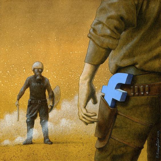 Outras incômodas ilustrações de Pawel Kuczynski mostram o que há de errado com a sociedade atual 55