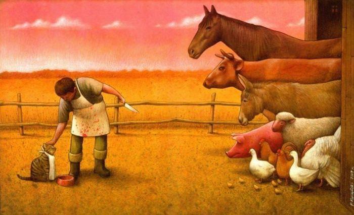 Outras incômodas ilustrações de Pawel Kuczynski mostram o que há de errado com a sociedade atual 56