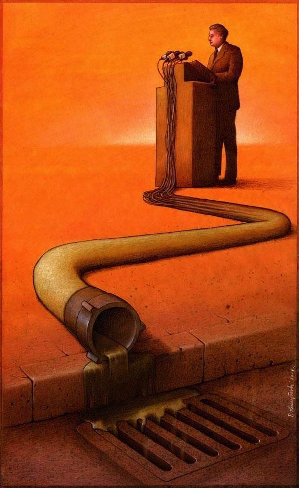 Outras incômodas ilustrações de Pawel Kuczynski mostram o que há de errado com a sociedade atual 58