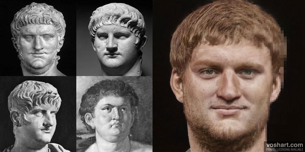 Designer restabelece a aparência de imperadores romanos com ajuda de rede neural