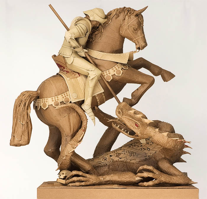 As incríveis esculturas de papelão de Chris Gilmour 29