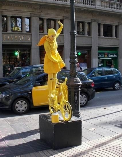 Incríveis estátuas vivas 10