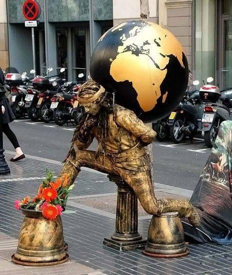 Incríveis estátuas vivas 20