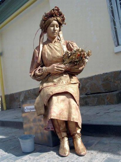 Incríveis estátuas vivas 23