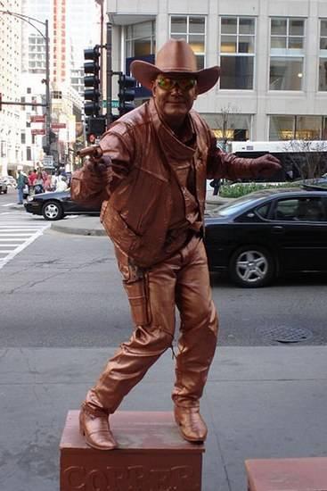 Incríveis estátuas vivas 25
