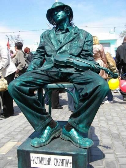 Incríveis estátuas vivas 31
