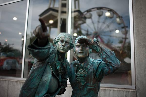 Incríveis estátuas vivas 35
