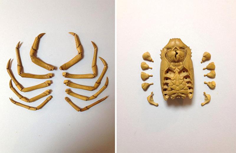Artista japonês esculpe lagosta de aparência realista com buxinho 06
