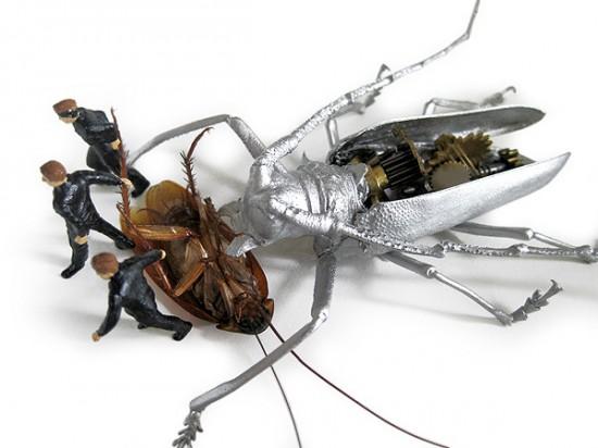 Micromachina, as esculturas com insetos de Scott Bain 02