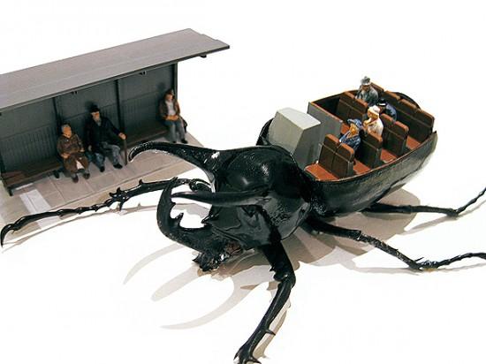 Micromachina, as esculturas com insetos de Scott Bain 05
