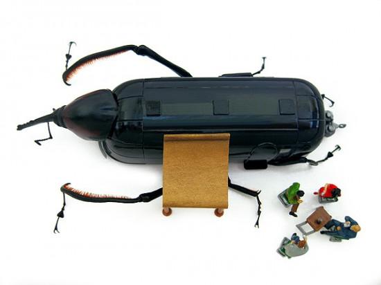 Micromachina, as esculturas com insetos de Scott Bain 08