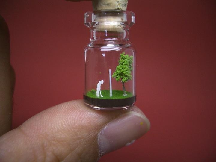 O mundo em miniatura dentro de uma garrafinha 04