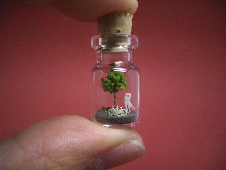 O mundo em miniatura dentro de uma garrafinha 15