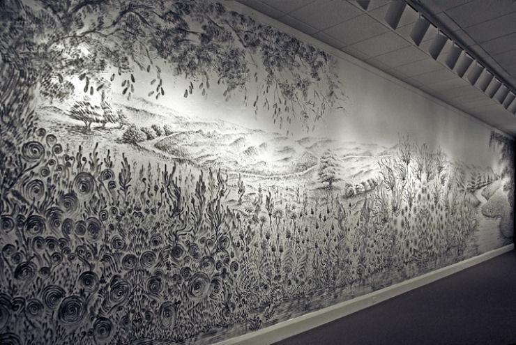 Impressionante mural pintado a dedo 01