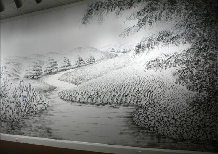 Impressionante mural pintado a dedo 04