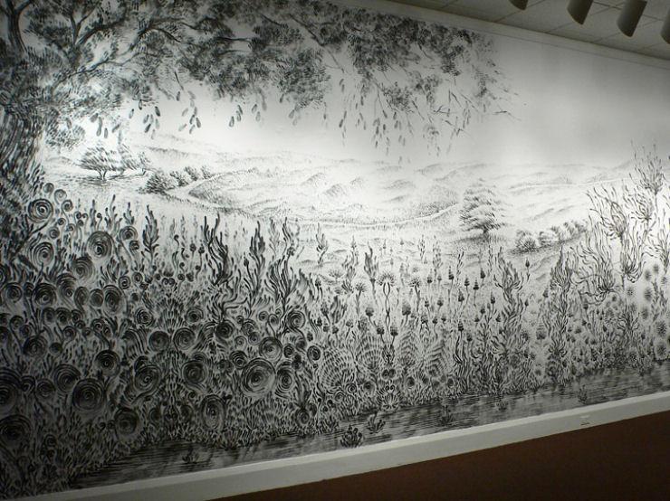 Impressionante mural pintado a dedo 08