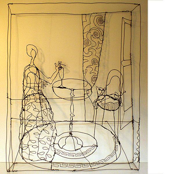Incr�veis esculturas tridimensionais de arame 03