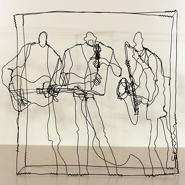 Incr�veis esculturas tridimensionais de arame 06
