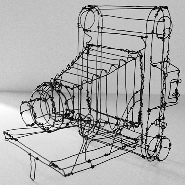 Incr�veis esculturas tridimensionais de arame 07