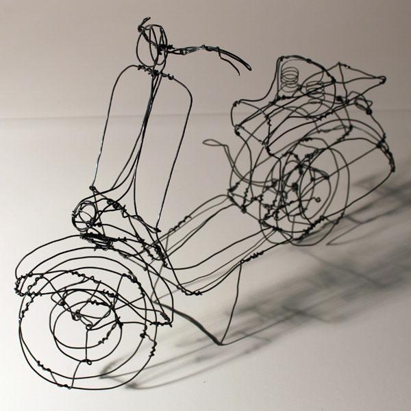 Incríveis esculturas tridimensionais de arame 09