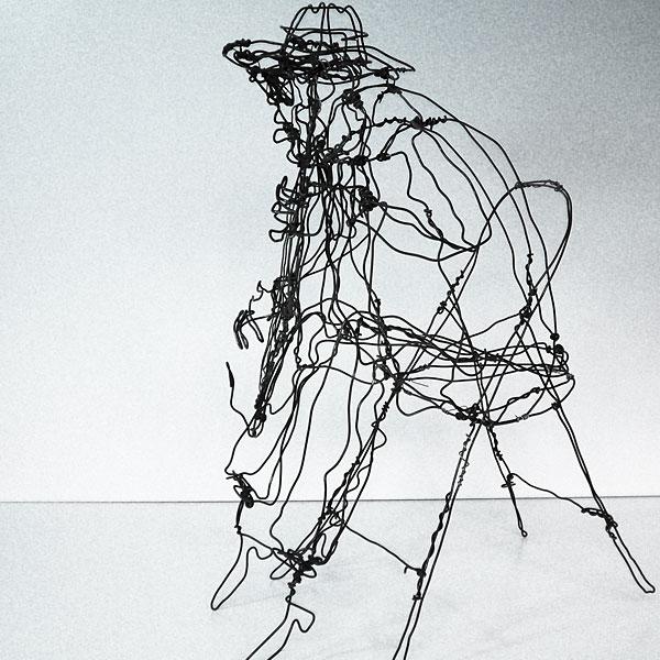 Incr�veis esculturas tridimensionais de arame 11