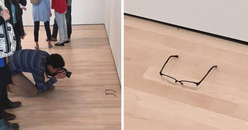 Deixam um abacaxi no meio de uma exposição e as pessoas confundiram com arte
