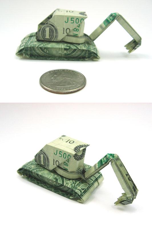 Incrível origami feito com cédulas 05