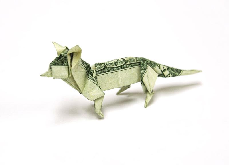Incrível origami feito com cédulas 06