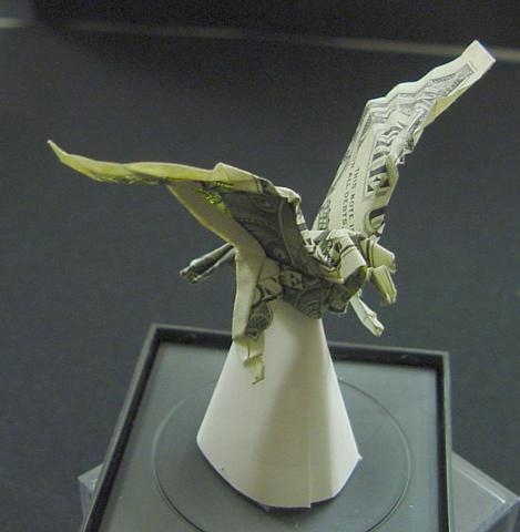Incrível origami feito com cédulas 07