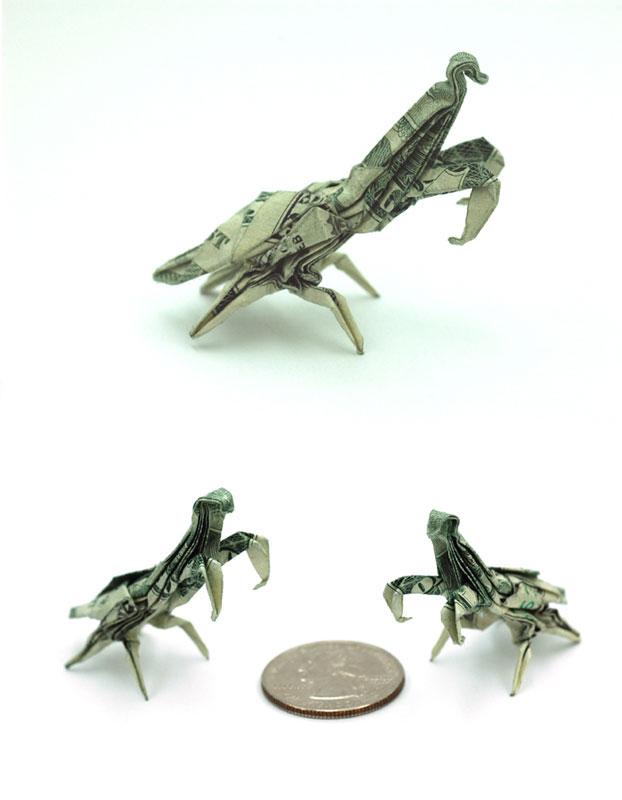 Incrível origami feito com cédulas 08