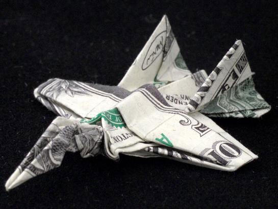 Incrível origami feito com cédulas 09