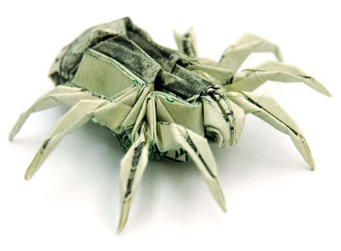 Incrível origami feito com cédulas 14