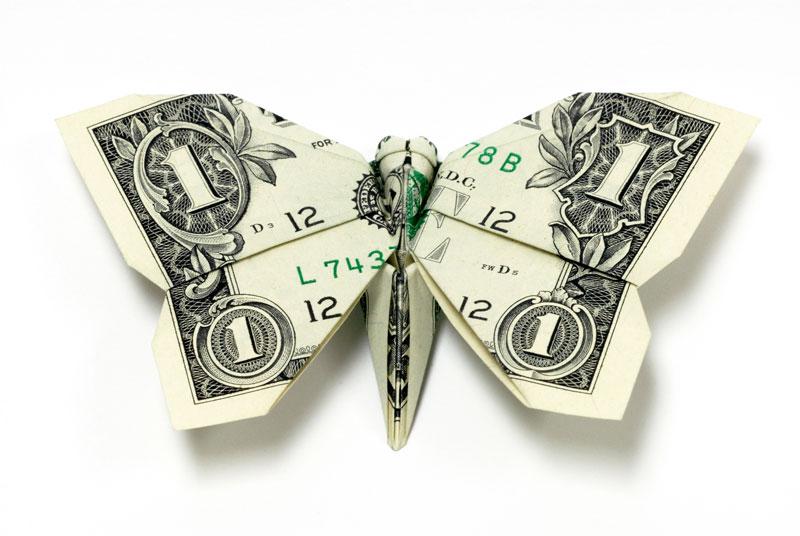 Incrível origami feito com cédulas 17