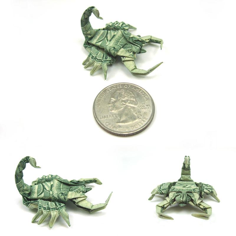 Incrível origami feito com cédulas 18