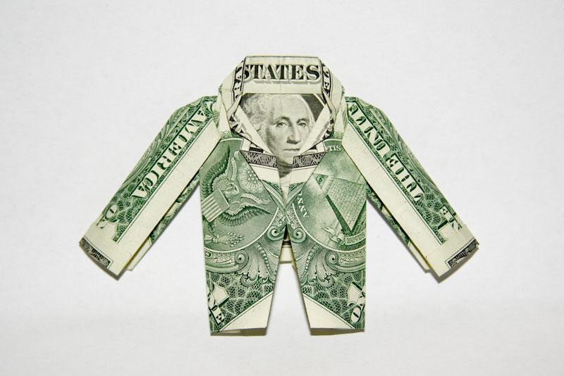 Incrível origami feito com cédulas 20