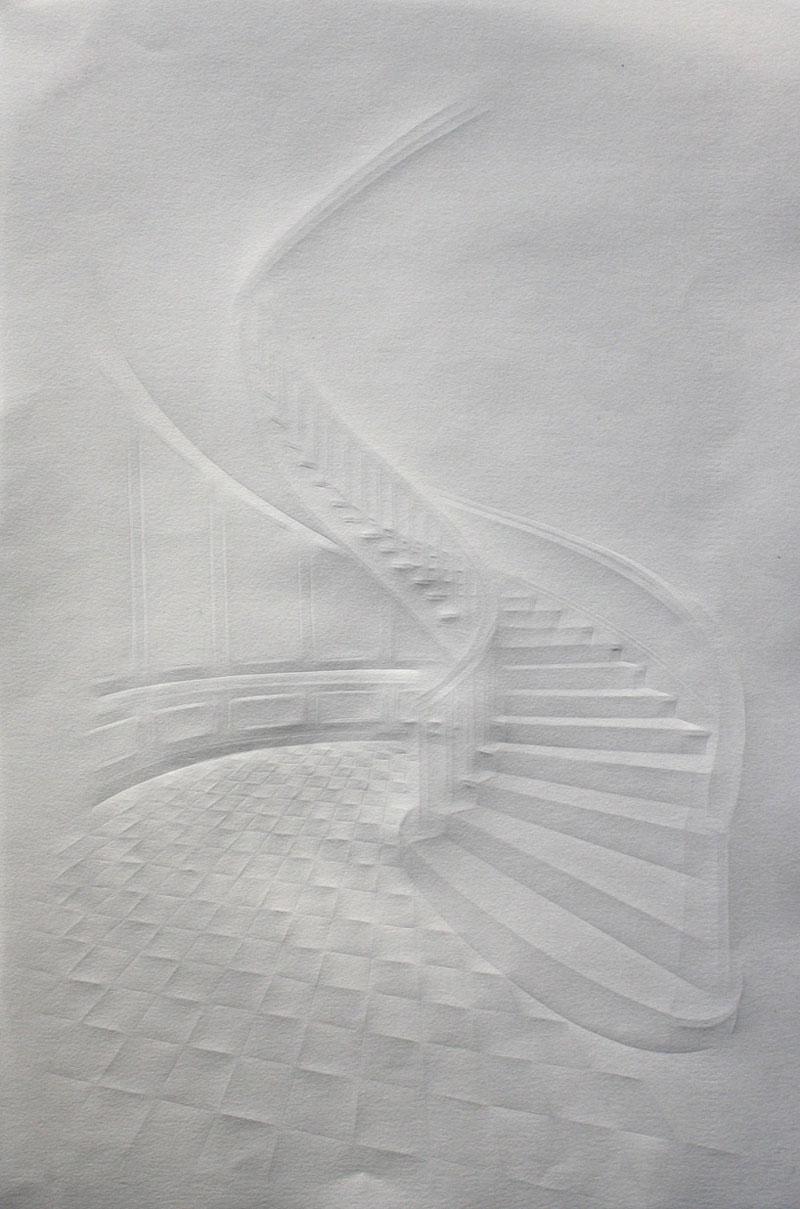 Obras de arte feitas com folha de papel vincado 01