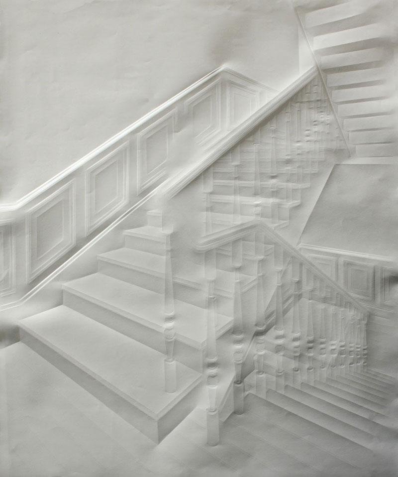 Obras de arte feitas com folha de papel vincado 02