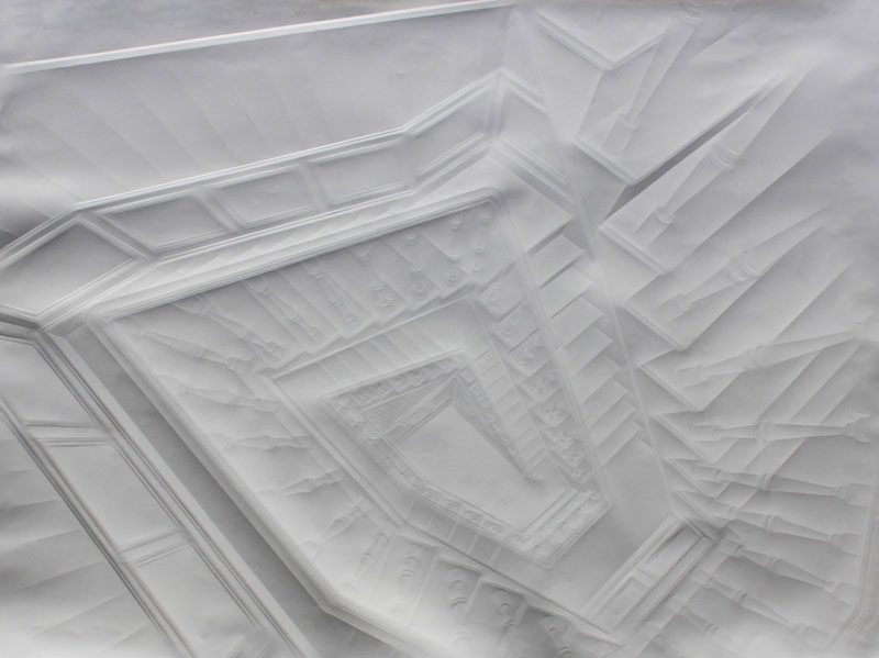 Obras de arte feitas com folha de papel vincado 03