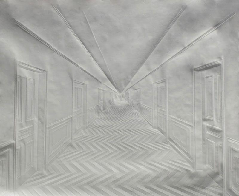 Obras de arte feitas com folha de papel vincado 04