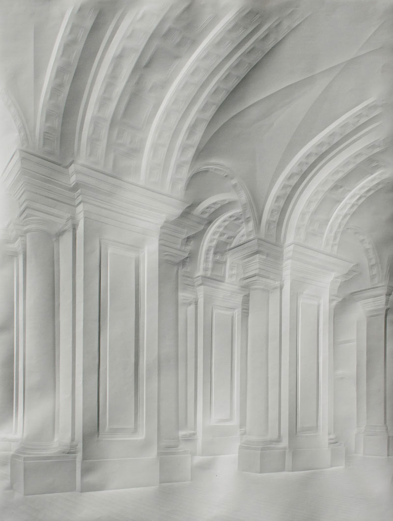 Obras de arte feitas com folha de papel vincado 07