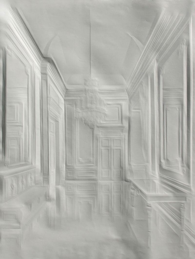 Obras de arte feitas com folha de papel vincado 08