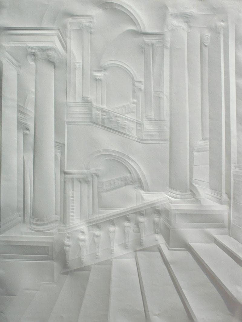 Obras de arte feitas com folha de papel vincado 09