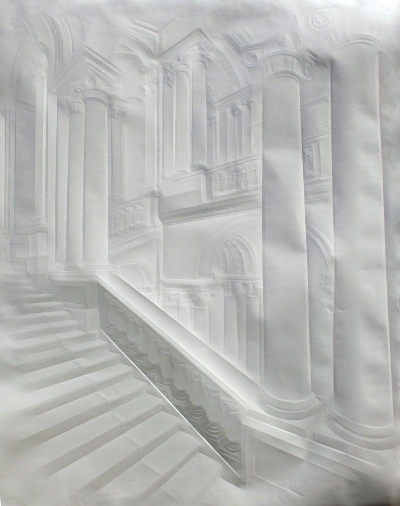 Obras de arte feitas com folha de papel vincado 11