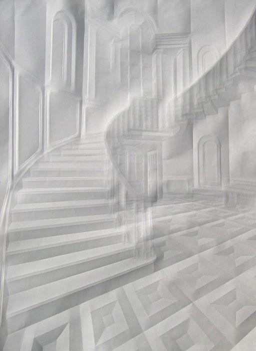 Obras de arte feitas com folha de papel vincado 12