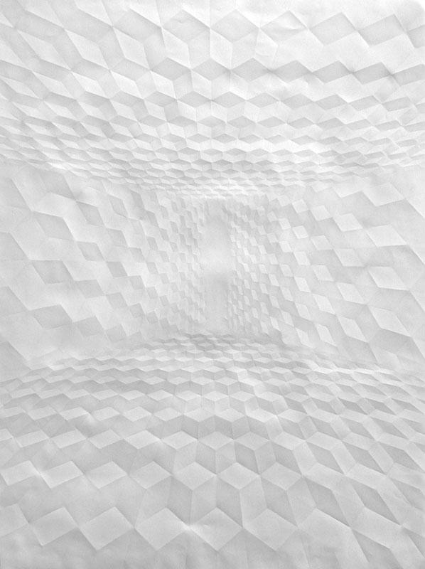 Obras de arte feitas com folha de papel vincado 13