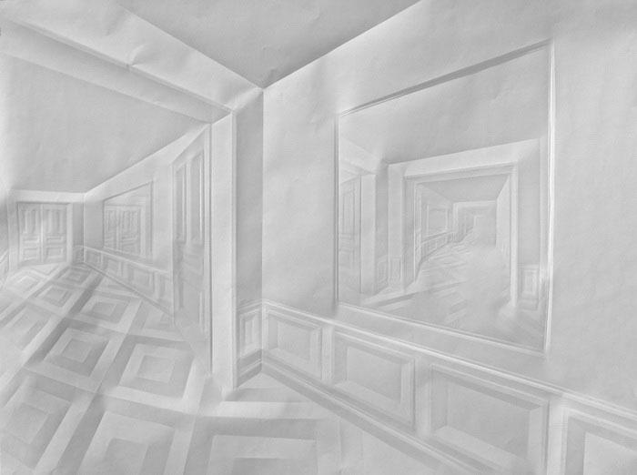 Obras de arte feitas com folha de papel vincado 16