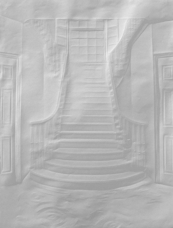Obras de arte feitas com folha de papel vincado 18