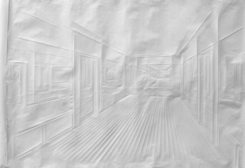 Obras de arte feitas com folha de papel vincado 19