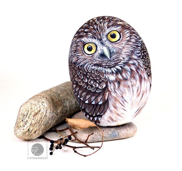 Artista italiana transforma pedras em obras de arte 03